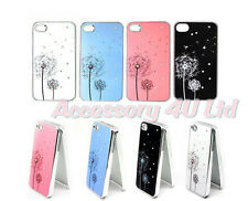 Fashion Dandelion Flower Diamond Hard Back Cover Case For Iphone 4/4S/5 + Screen