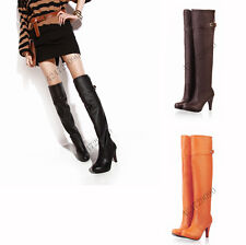 New Style Women's Sexy High Heel Boots Over Knee Shoes US All Size Y427