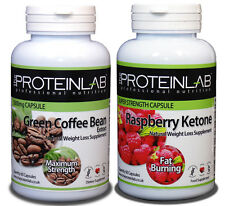 Raspberry Ketone & Green Coffee Bean Combo Weight Loss Diet Pills High Strength