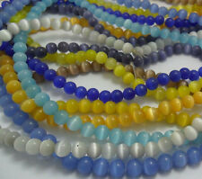 New(9 kinds color,can choose)Cat Eye,Round Loose Beads 6mm,1 string(about 65pcs)