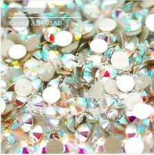 1440pc SS3-SS20 Crystal AB /clear AB Flatback Rhinestone Nail Art Decoration DIY