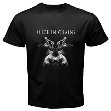 New ALICE IN CHAINS Rock Band *Album Hollow Logo Men's Black T-Shirt Size S-3XL