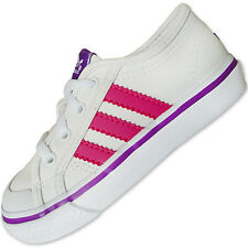 "ADIDAS ORIGINALS ""NIZZA LO"" BABY/KINDER SCHUHE SNEAKER WEISS/PINK/LILA [19-26]"