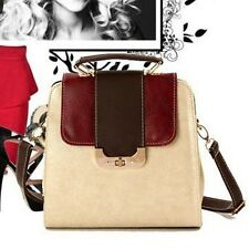 NEW Fashion Womens Opposited Color Messenger Bag Satchel Tote Purses Handbag Ca