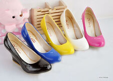 New Design Women's Wedge Candy Color High Heels Pumps Shoes AU All Size YD062