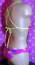 NWT HOLLISTER Pink Sunfriders Palm Cut-out Show-off One-piece Monokini XS S M