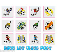 FOOTBALL TEMPORARY TATTOOS IN SETS OF 12 PARTY LOOT BAG CHILDRENS GIFT TOY GAME