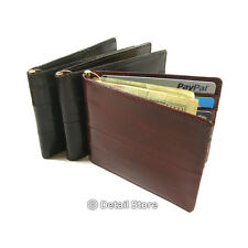 New EEL SKIN Men's Money Clip/Latch/Spring type Holder Slim/Thin Bifold WALLET