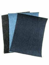 Dark, Light & Black Iron On Denim Mending Repair Patches  -Free UK 1st Class P&P