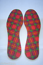 Ladies Insoles. Tartan. Ready Cur Latex Foam Back  Sizes 2  -  9