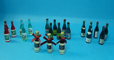 12th scale dolls house bottles perfect for pub/dining room 4 to choose from.