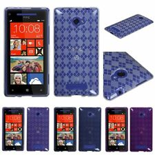 Transparent TPU Candy Skin Soft Gel Snap-on Case Cover for HTC Windows Phone 8X
