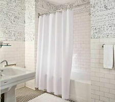 Fabric Shower Curtain Plain White: Extra Wide, Extra Long or Standard