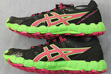 ASICS GEL FUJI TRAINER 2 Womens BLACK PINK GREEN RUNNING CROSS SNEAKERS NWT $100