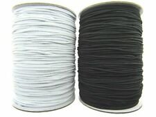 Round Cord Elastic / 1mm / 2mm / 3mm / Black or White - Very Best Quality