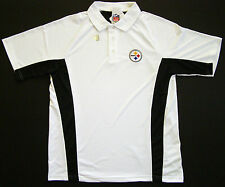Pittsburgh Steelers Field Classic White Sideline Performance Golf Polo Shirt
