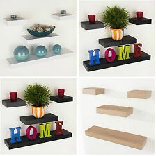 Eden Floating Wall Shelf | Wood Effect | Shelving Shelves Unit Kit Display Home
