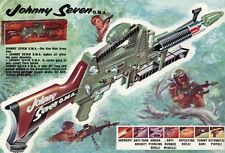 Vintage Poster Johnny Seven One Man Army Gun Topper Toys A3 A4 Reprint 1964