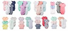 NEW NWT Girls Carter's 5 Pack Bodysuits Newborn 3 6 or 9 Months You Choose!