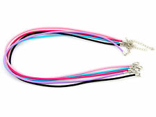 "Wholesale Lobster Clasp Rubber Cord Necklace Free Ship 18"" P20"