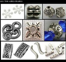 Tibetan Silver Spacer/Connector Beads. 13 Styles Available. (BOX85)