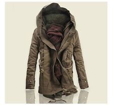 New Men's Jacket Winter Stylish Hooded Canvas Cotton Warm Outwear Coat/parka #03