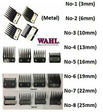 ATTACHMENT COMBS  for WAHL Hair Clippers ( with metal) - Number 1 2 3 4 5 6 7 8