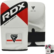 RDX Maya Hide Leather Boxing Gloves Fight Punch Bag MMA Muay Thai Grappling Pads