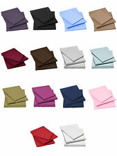Percale Fitted Bed Sheets Single Double King Super Non Iron Poly Cotton