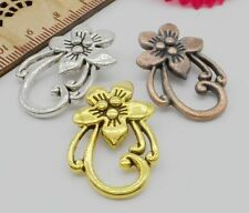 Free Ship 10Sets Mixed Silver/Gold/Copper Flower Connector Toggle Clasps