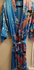 CHINESE JAPANESE KIMONO DRESSING GOWN SIZE 8-SIZE 26 SILK FEELING UK SELLER