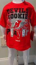 NWT NHL Reebok New Jersey Devils Rookie Player Toddler Tee - Sizes 2T-4T