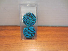 MORBID METALS BLUE ZEBRA EAR PLUGS FROM HOT TOPIC DIFFERENT SIZES TO CHOOSE FROM