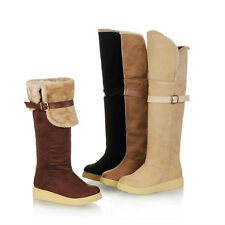 New Sexy woman's warm and comfortable snow boots leather buckle boots JD#177