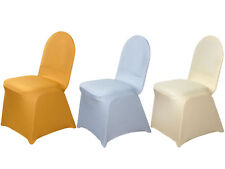 100 pcs SPANDEX Stretchable High Quality CHAIR COVERS Wholesale Wedding Supplies