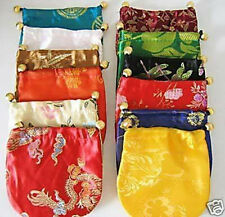 Wholesale Chinese Handmade Multi-Color Silk Bag/Purse Silk Gift Bags jewelry Bag