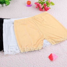 New Flesh Lace Trim Fashion Sexy Women Safety Short Tights Pants