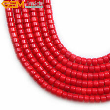 """New Rondelle Spacer Beads Coral Jewelry Making Gemstone Loose Beads Strand 15"""""""
