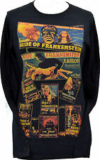 LADIES LONG SLEEVE T-SHIRT BRIDE OF FRANKENSTEIN KARLOFF MONSTER HORROR S-2XL