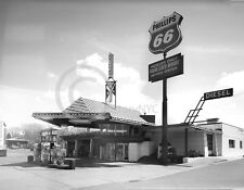 FRANK LLOYD WRIGHT GAS STATION PHILLIPS 66 PHOTOGRAPH HISTORICAL
