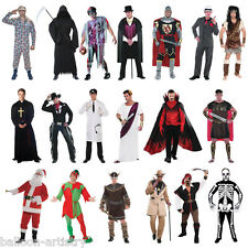 Adult Men's Pirate Gangster Vampire Halloween Stag Party Fancy Dress Costume