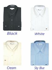 MEN'S BASIC DRESS SHIRT COTTON BLEND FRENCH CUFF FOUR COLORS SG 03F