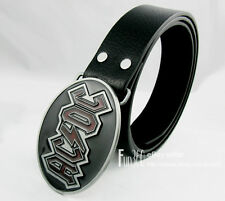 Classic AC DC ACDC Logo Rock Band Punk Music Style Metal Men Buckle Leather Belt