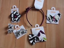 NWT GIRLS GYMBOREE WILD FOR ZEBRA HAIR CLIPS, HEADBAND U PICK!!