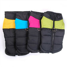 Dog Puppy Puffer Winter Vest  Coat Jacket D-ring Fast And Free UK Seller