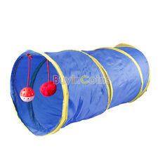 Pet Dog Cat Tube Folding Exercise Tunnel Cave Pop Out Playing Toy RSUS