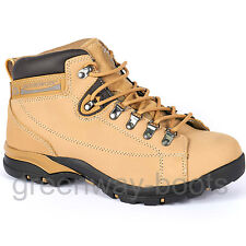 LADIES LEATHER GROUNDWORK WOMENS SAFETY STEEL TOE CAP WORK BOOTS HIKING SHOES SZ
