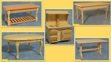dolls house miniature1:12 scale wood kitchen items unpainted 5 to choose from.