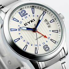 NEW EYKI Automatic Mechanical Fashion Date Men Wrist Stainless Analog Dial Watch