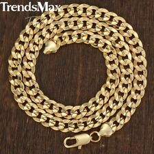 """9MM MENS Boys Chain Curb Cuban Yellow Gold Filled Bracelet 7-11"""" Necklace 18-36"""""""